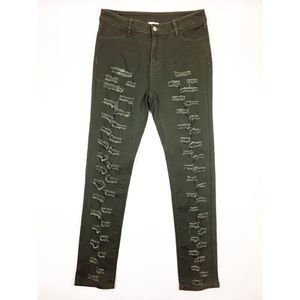 NEW Hayden gray skinny distressed straight jeans